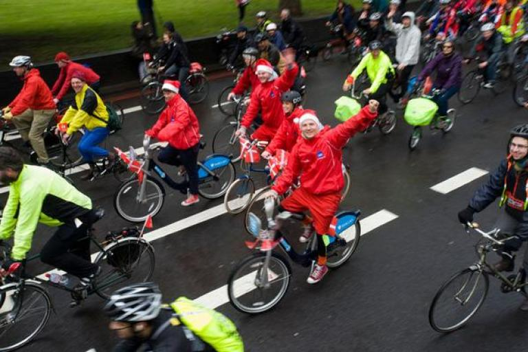 Image result for christmas day bike ride london