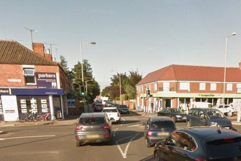 Church Road - Wokingham Road junction, Earley (via StreetView).jpg