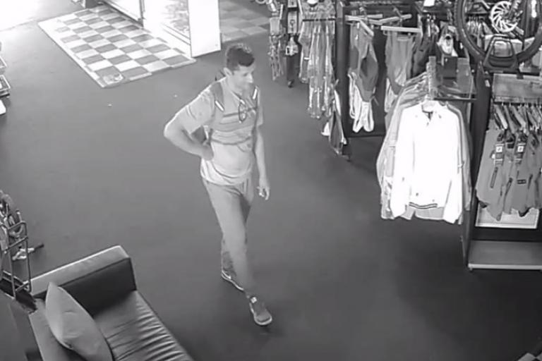 Costa Mesa bike thief (via The Cyclist Facebook page)