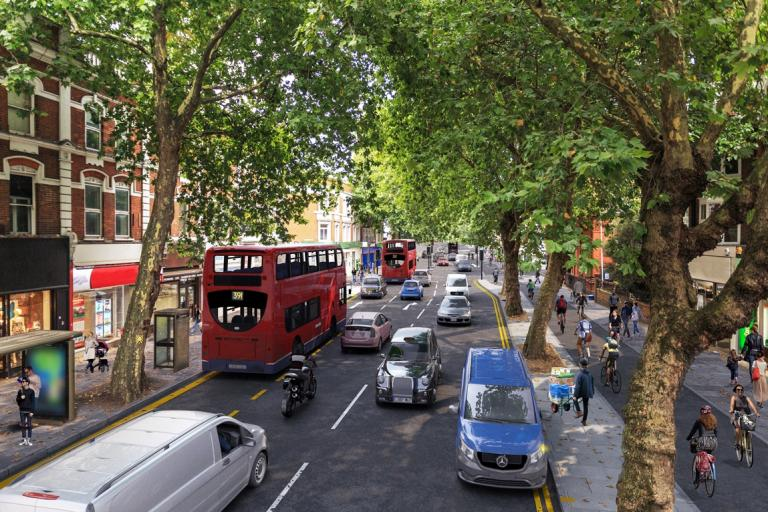 Cycle Superhighway 9 in Chiswick