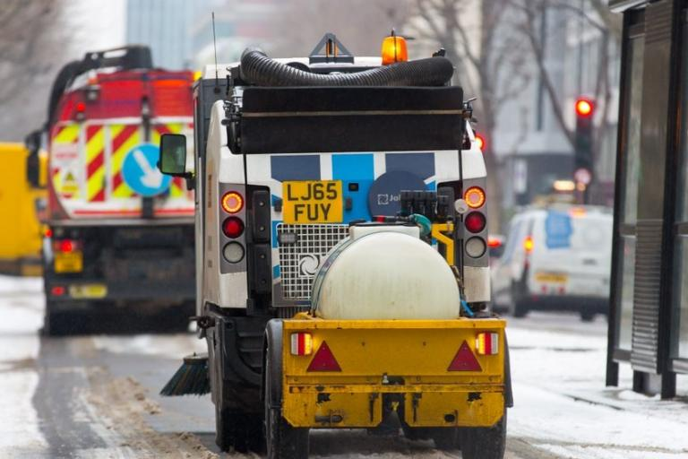 Cycle lane gritter (TfL).jpg