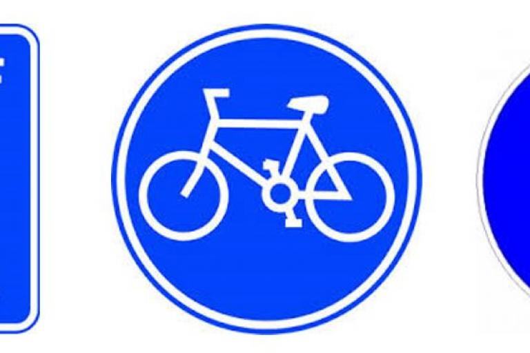 Cycle path signs.JPG