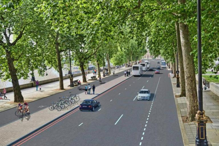 Cycle Superhighways plans - Victoria embankment.jpg
