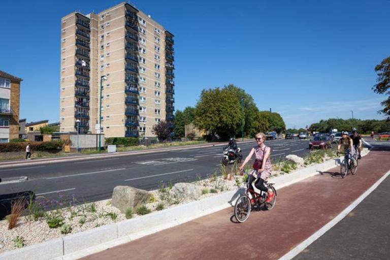 Cycleway 23 in Waltham Forest (picture via TfL)