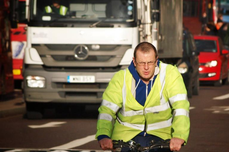 Cyclist and lorry (copyright Simon MacMichael) (1).jpg