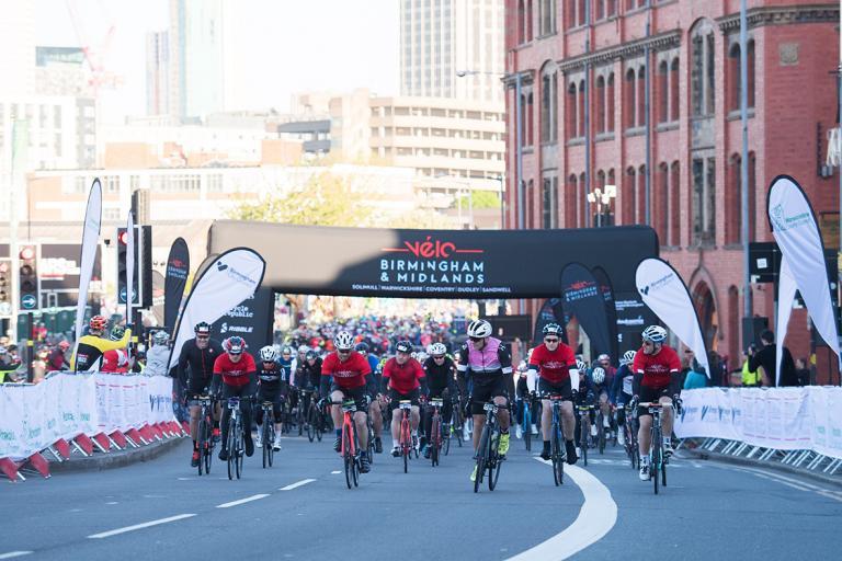 Cyclists set off for Vélo Birmingham & Midlands 2019