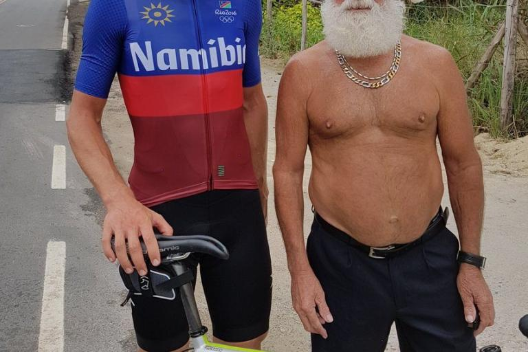 Rapha celebrate Rio 2016 s least likely hero with limited edition Namibia  jersey ec9383267