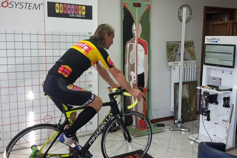 Davide Nicola preparing for his ride (via Shop Bikecafe on Facebook).jpg