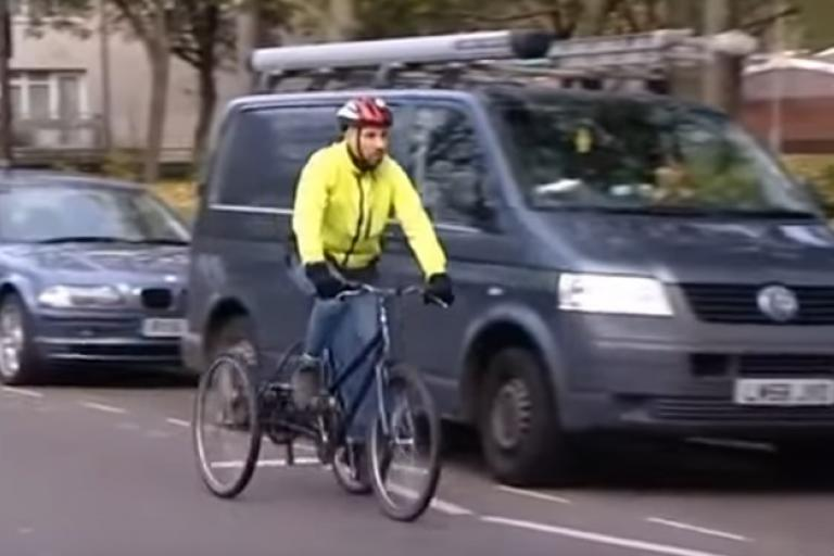 Disabled cyclist (via YouTube)