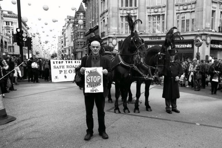 Donnachadh_at_Oxford_Circus_moment_of_silence_