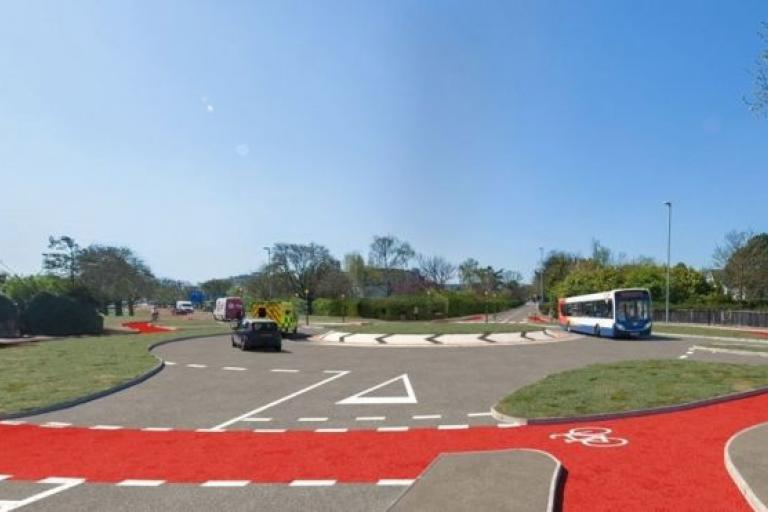 Dutch-style roundabout, Cambridge (picture via Cambridgeshire County Council)