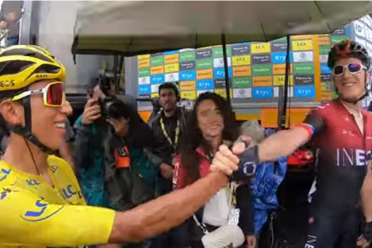 Egan Bernal and Geraint Thomas after Tour de France Stage 20.PNG