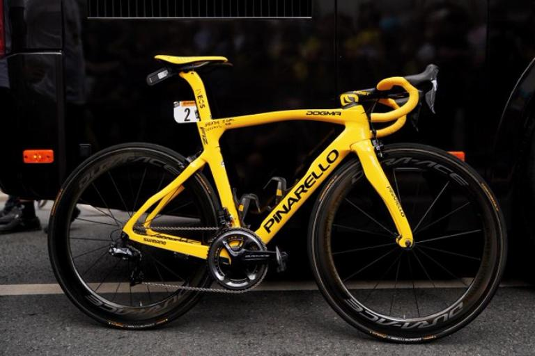 Egan Bernal's Tour de France Stage 21 bike (via Team Ineos on Twitter)