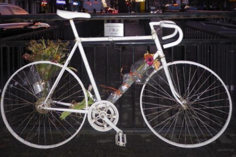 Eilidh Cairns ghost bike (photo cropped, picture credit Tamara von Werthern).JPG