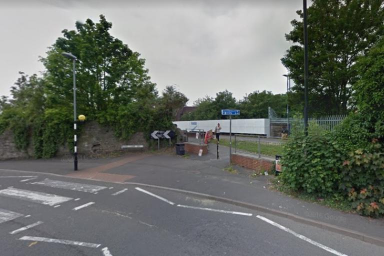 Entrance to Bristol-Bath cyle path in Easton (via StreetView)