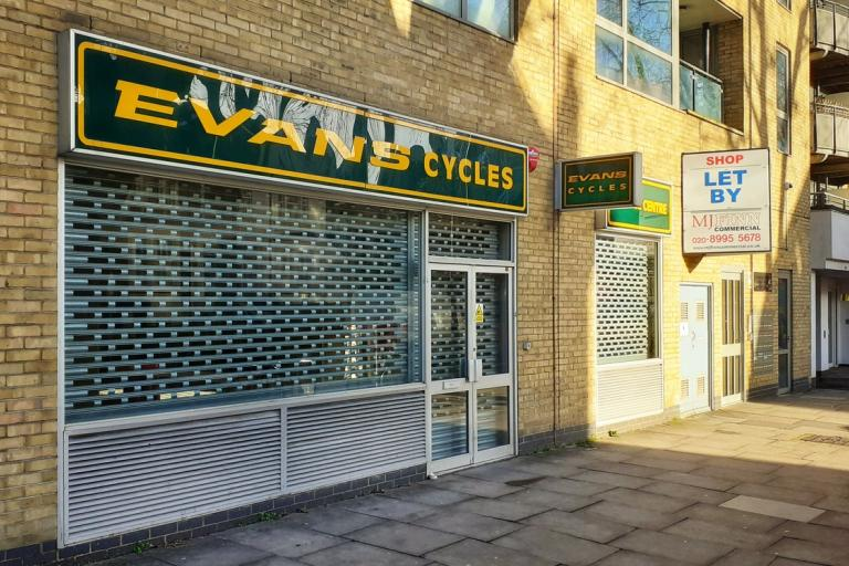 Evans Cycles branch in Chiswick, now closed (copyright Simon MacMichael)