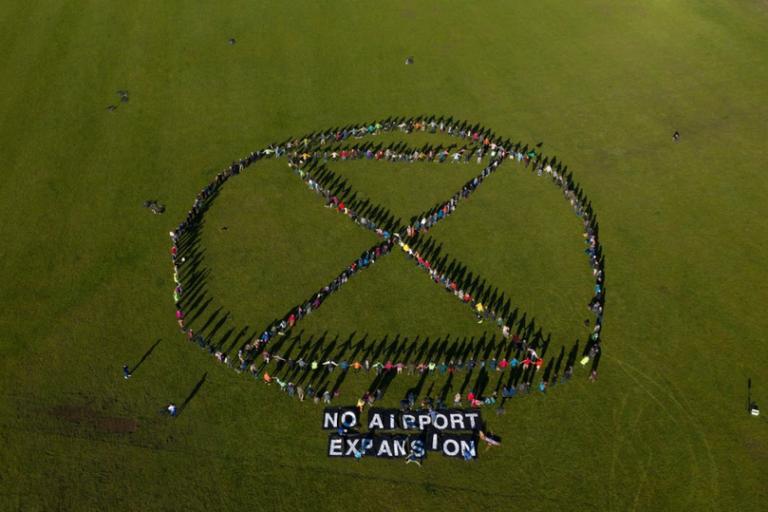 Extinction Rebellion Bristol Airport expansion protest