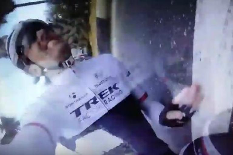 Fabian Cancellara training camp crash 2015 YouTube still.JPG