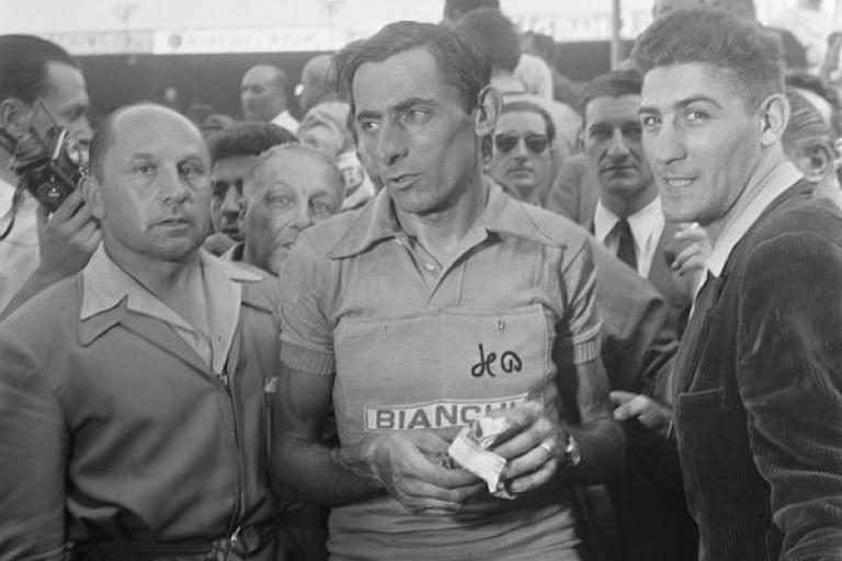 Fausto Coppi at the 1952 Tour de France (public domain)