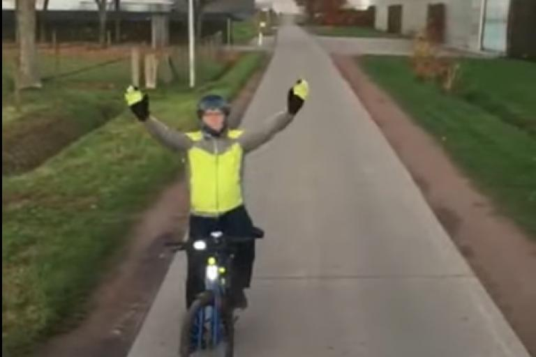 Flemish cyclist (via YouTube)