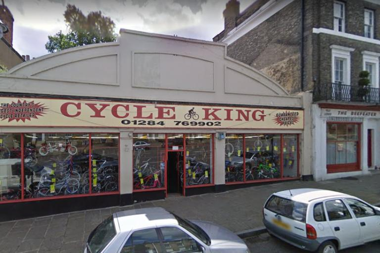 Former Cycle King shop in Bury St Edmunds (Google Street View).PNG