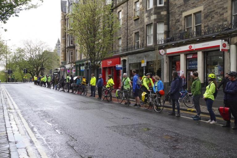 Forrest Road people-protected bike lane (CC licensed by Sandy Beach Cat via Flickr)