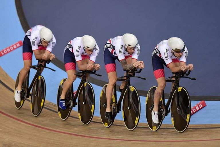 GB men's team pursuit at London UCI Track World Championships 2016, copyright SWPix.com, Britishcycling.org_.uk_.JPG