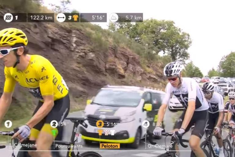Geraint Thomas and Chris Froome during Tour de France Stage 15 (TV still via LeTour on YouTube).JPG
