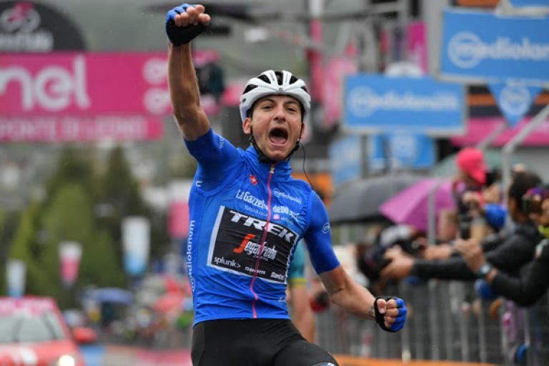 Giulio Ciccone wins Giro d'Italia Stage 16 (picture RCS Sport, LaPresse)