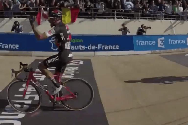 Greg van Avermaet wins Paris-Roubaix 2017 (Velon video still).PNG