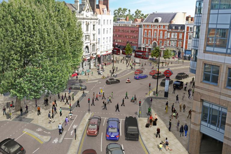 Hammersmith Gyratory artists' impression