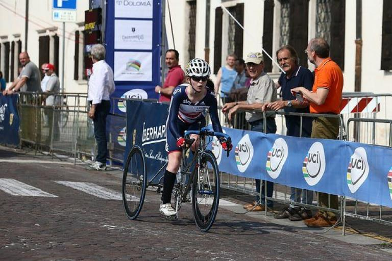 Hannah Dines at UCI Para-cycling World Cup in Italy 2015 (copyright Britishcycling.org_.uk).jpg