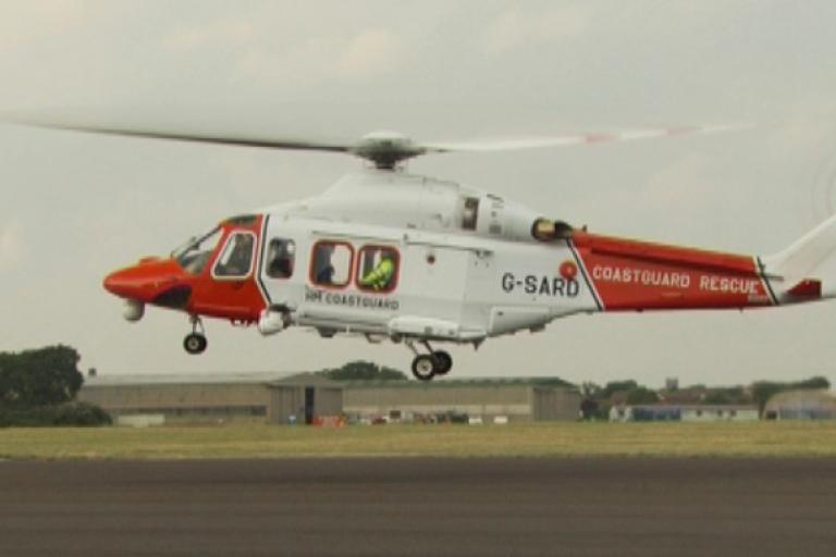HM Coastguard helicopter via DfT on Flickr