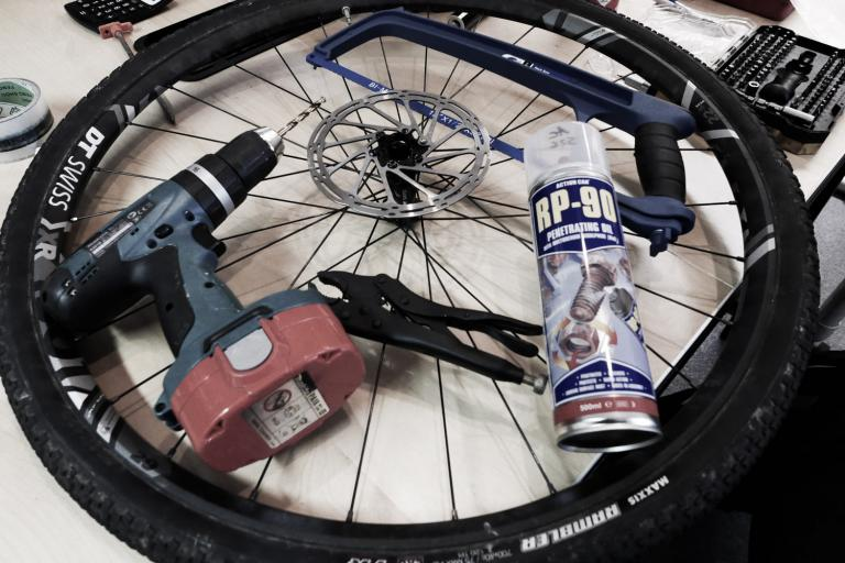 How-to-free-seized-rounded-bolts-disc-rotor-pedal-cleats-108