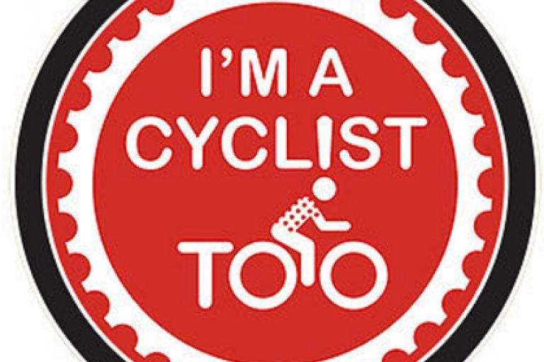 Imacyclisttoo car sticker (Richard Cooke)