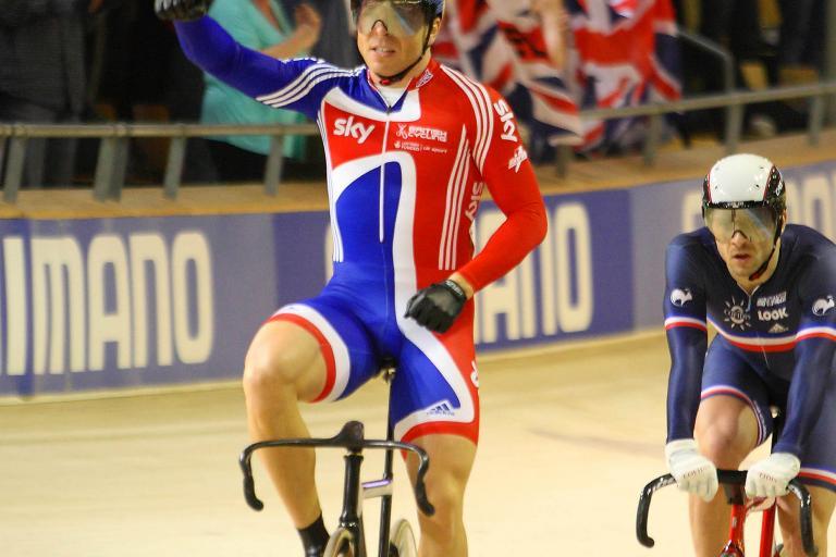 Chris Hoy wins the Keirin, World Track Champs 2010