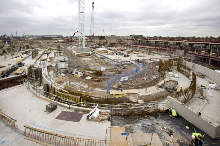 London Olympic velodrome under construction