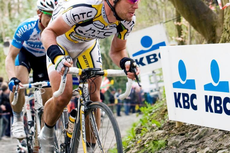 Cavendish on the Muur at Tour of Flanders 2010 / Photosport International