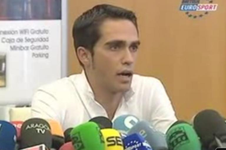 Alberto Contador press conference (picture - Eurosport).png