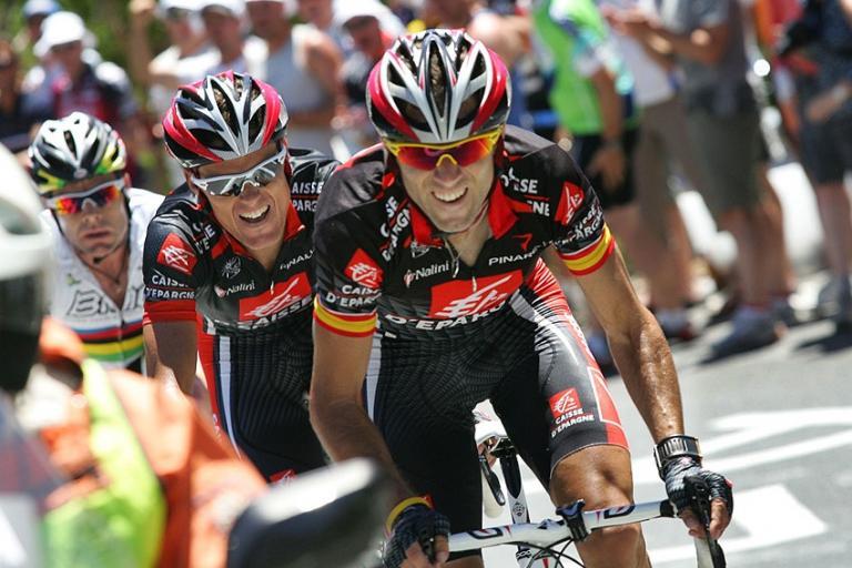 Alejandro Valverde and Leon Luis Sanchez (photo credit Tour Down Under : John Veage).jpg