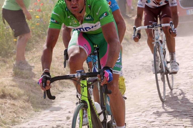 Alessandro Petacchi in the Tour de France green jersey © PhotoSport International.jpg
