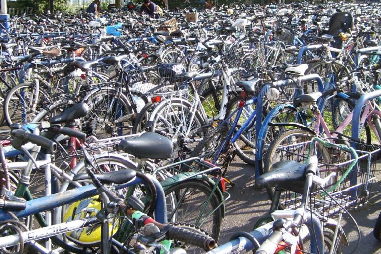 Bike parking at station