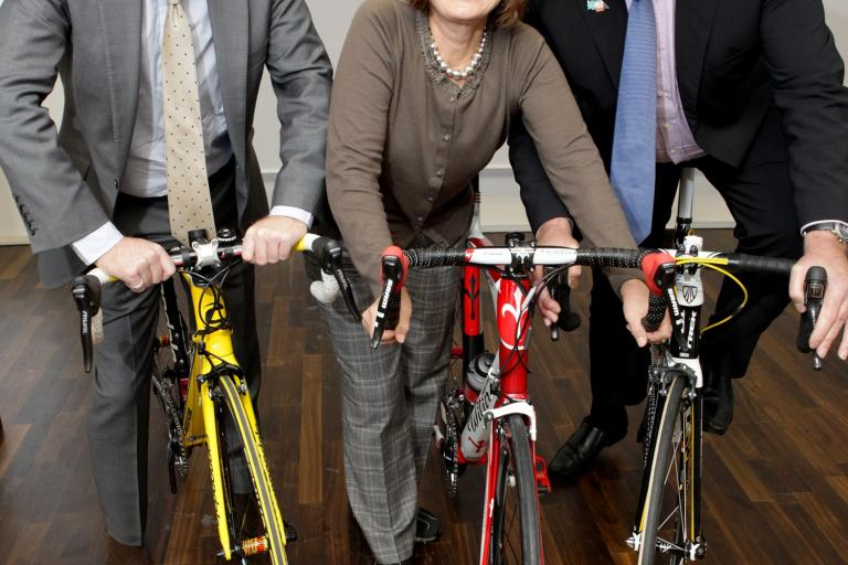 Councillor Peter John, leader of Southwark Council, Tessa Jowell MP, and Tony Doyle MBE.jpg