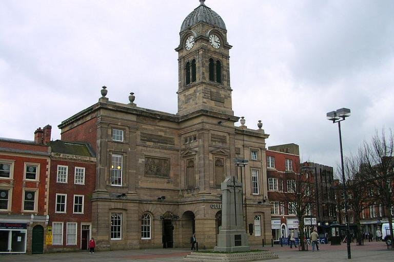 Derby Guildhall (Picture credit Charlesdrakew:Wikimedia Commons).JPG