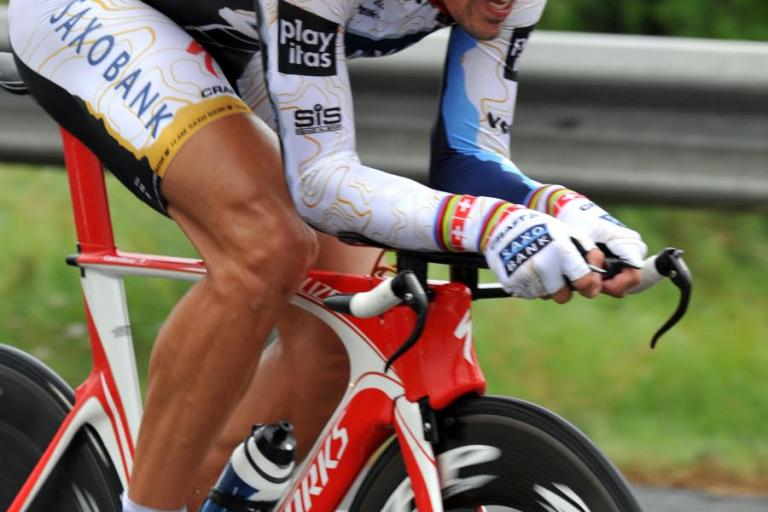 Fabian Cancellara on his way to winning the Vuelta Stage 7 individual time trial in Valencia © Unipublic