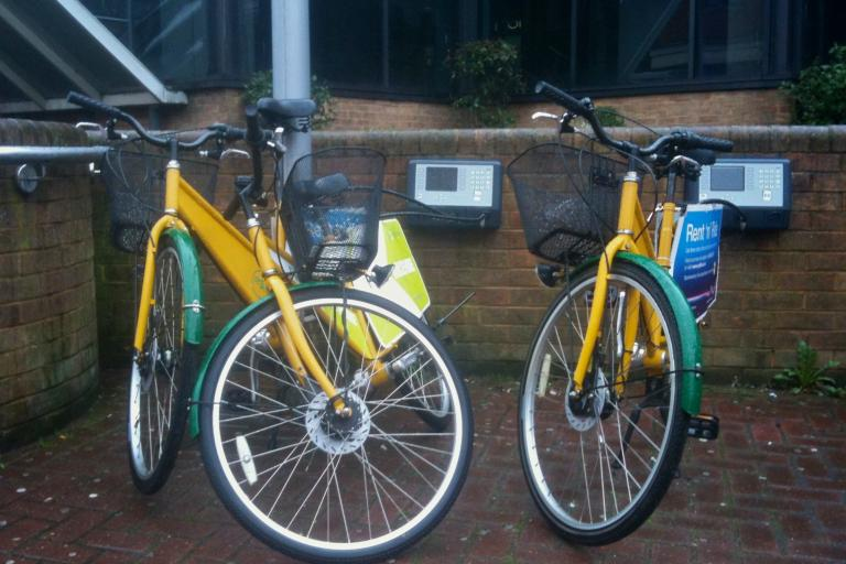 Hire Bikes at Reading Railway Station © Simon MacMichael.jpg