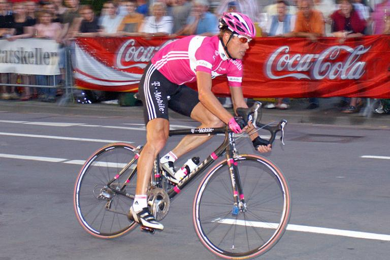 Jan Ullrich riding for T-Mobile (picture credit Heidas:Wikimedia Commons).jpg