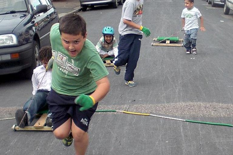 London children playing with go-carts during a 2008 Street Play day.jpg