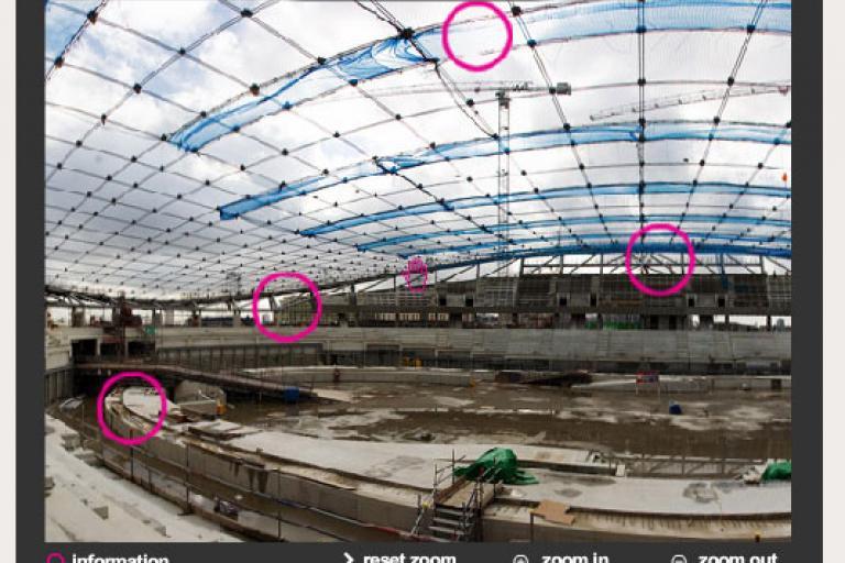 2012 Olympic Velodrome taking shape nicely
