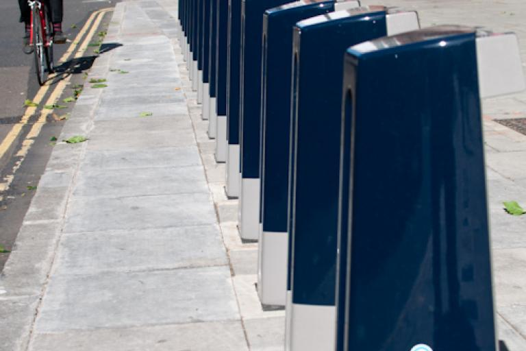 Barclays Cycle Hire scheme docking station (photo: Martin Thomas)